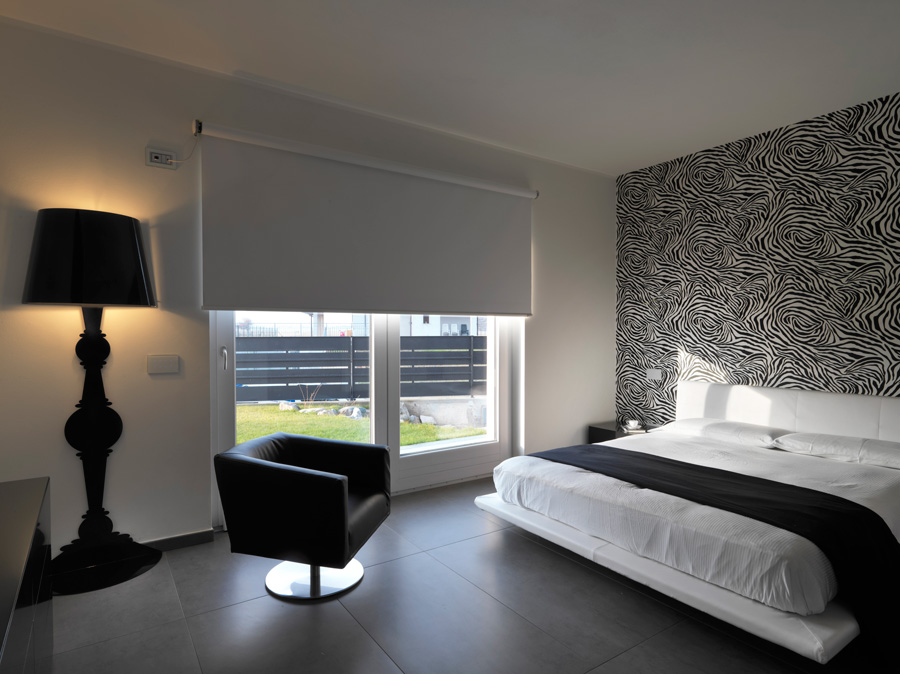 camera da letto con pareti blu n1. colori tinteggiatura ...
