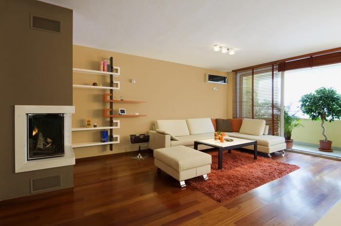 Salotto Con Cucina Moderna Bianco Interior Design : I migliori colori delle pareti per un soggiorno moderno