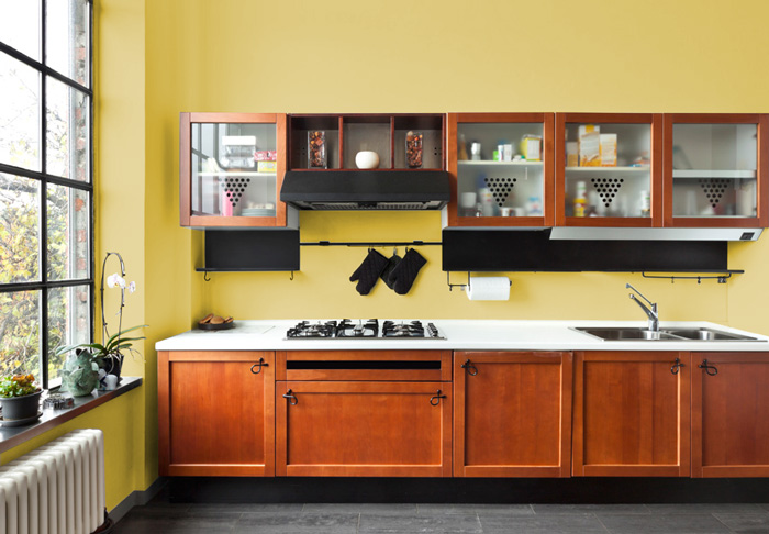 Pareti Cucina Giallo : I migliori colori delle pareti per una cucina classica