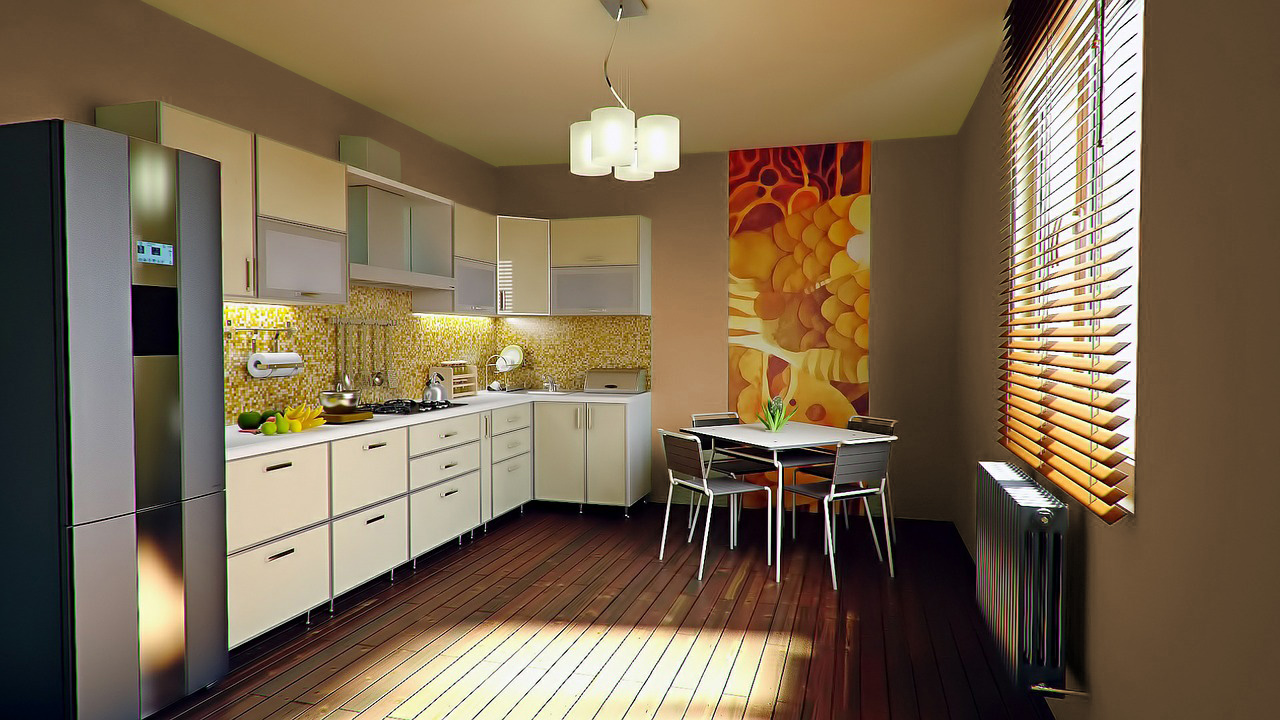 Colori pareti per una cucina bianca - Cucine moderne gialle ...