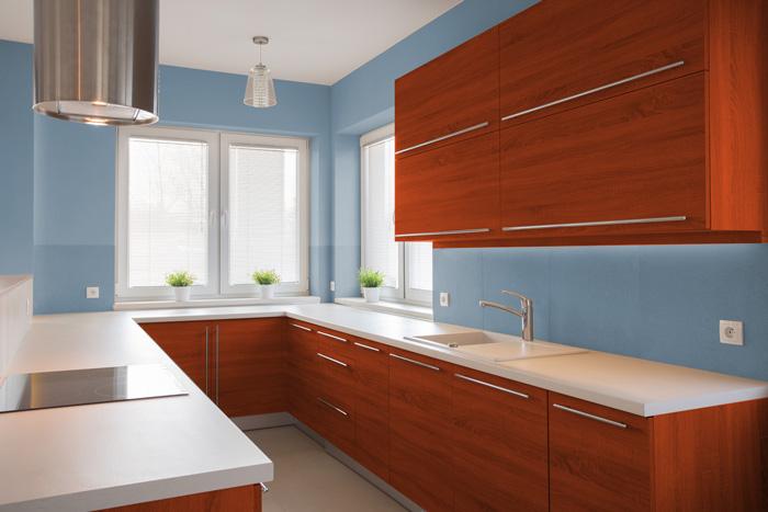 I migliori colori delle pareti per una cucina ciliegio - Colori muro cucina ...