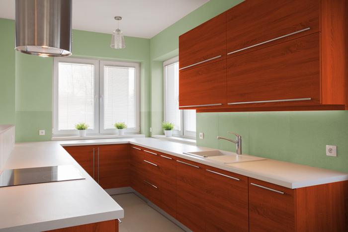I migliori colori delle pareti per una cucina ciliegio - Vernici lavabili per cucina ...