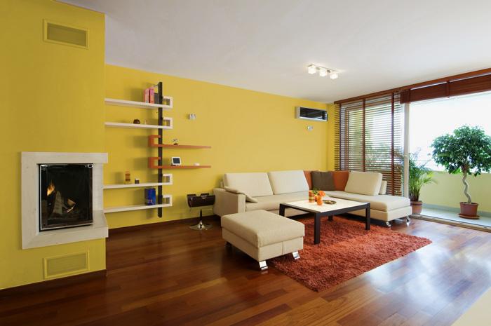 I migliori colori delle pareti per un soggiorno moderno - Come pitturare i mobili della cucina ...