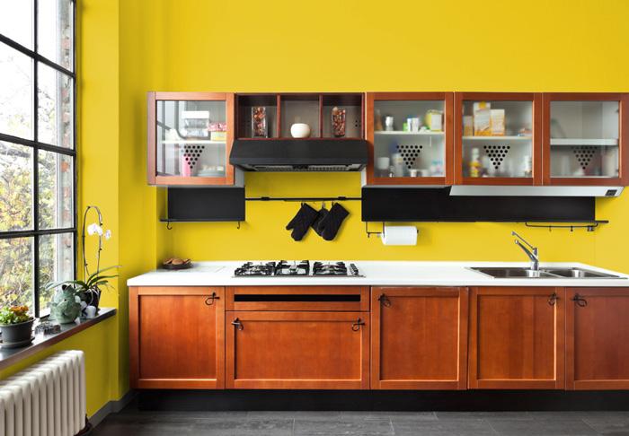Pareti Gialle Per Cucina : I migliori colori delle pareti per una cucina classica