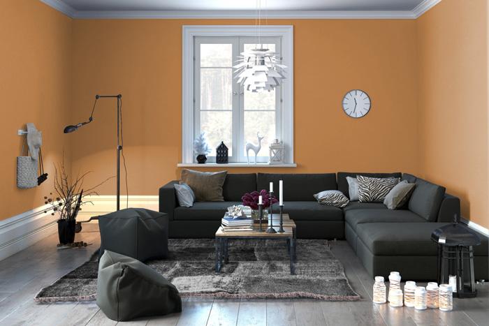 I migliori arancioni per le pareti del tuo soggiorno for Pareti colorate immagini