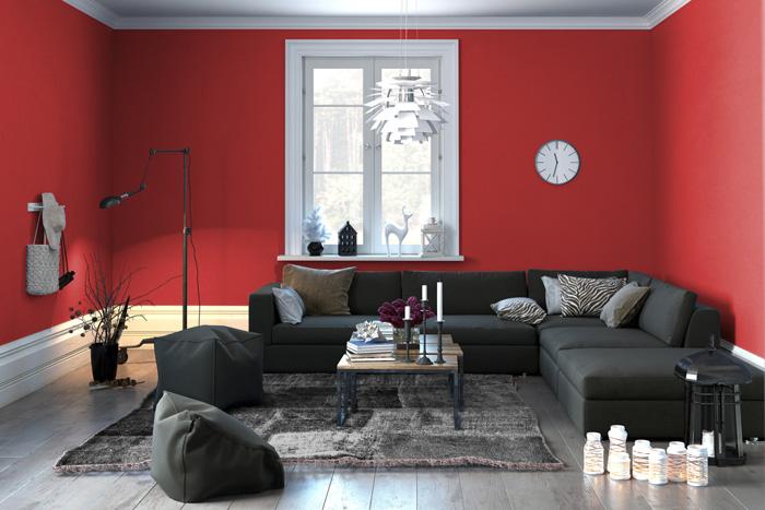Colori pareti soggiorno prova il rosso - Consigli per imbiancare casa colori ...