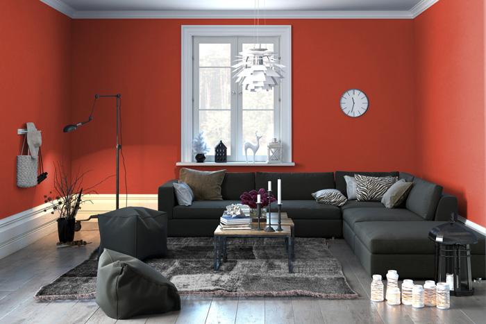 Colori pareti soggiorno prova il rosso - Colori per il soggiorno ...