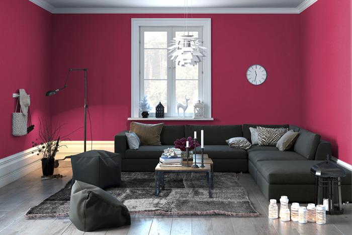 Colori pareti soggiorno prova il rosso for Divano rosso abbinamenti
