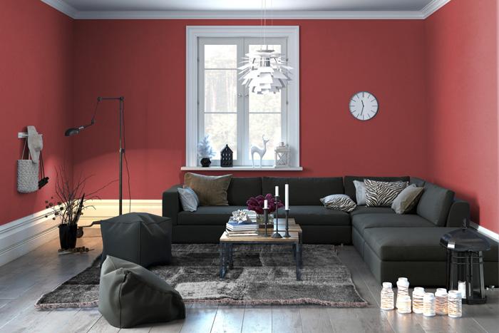 Colori pareti soggiorno prova il rosso - Colori pareti soggiorno classico ...