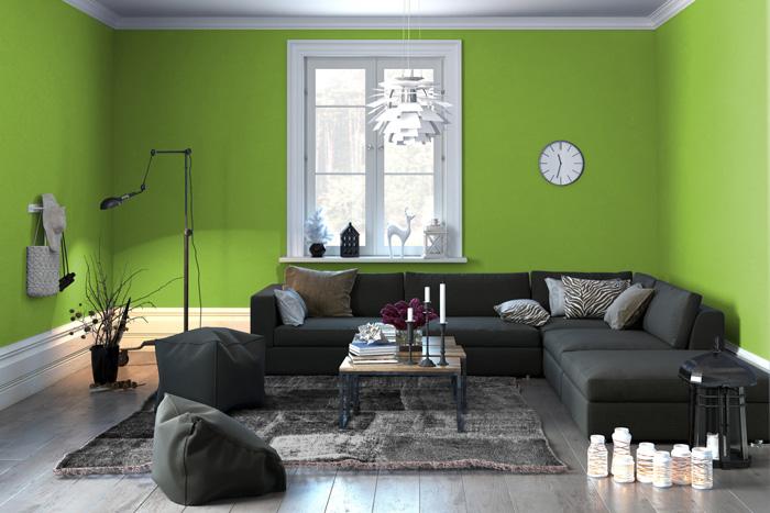 colori pareti soggiorno prova il verde