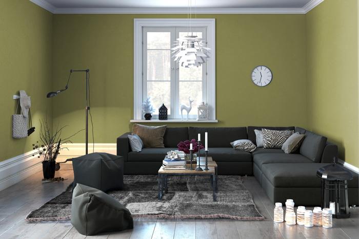 Colori pareti soggiorno prova il verde - Pareti rosse soggiorno ...