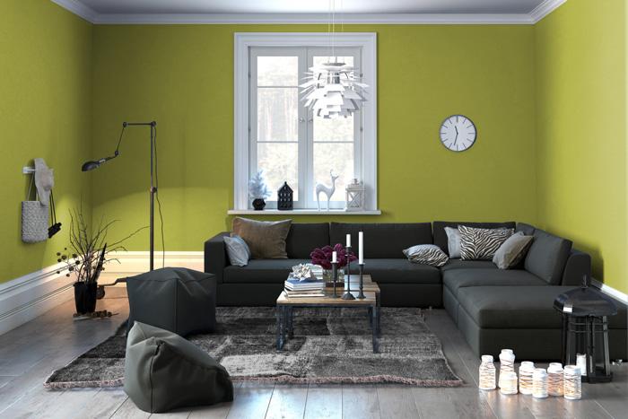 Colori pareti soggiorno prova il verde - Colori per il soggiorno ...