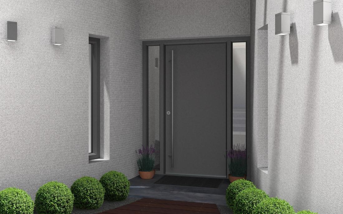 Portoncini in alluminio per esterno classici e moderni prezzi - Portoncini blindati da esterno con vetro ...