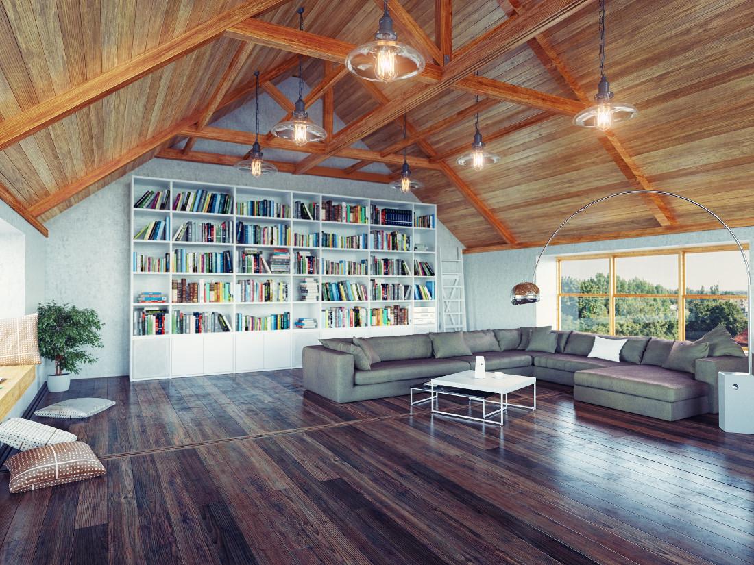 """Soffitto Travi A Vista Bianco tetti in legno """"caldi"""" e ventilati - prezzi e consigli"""