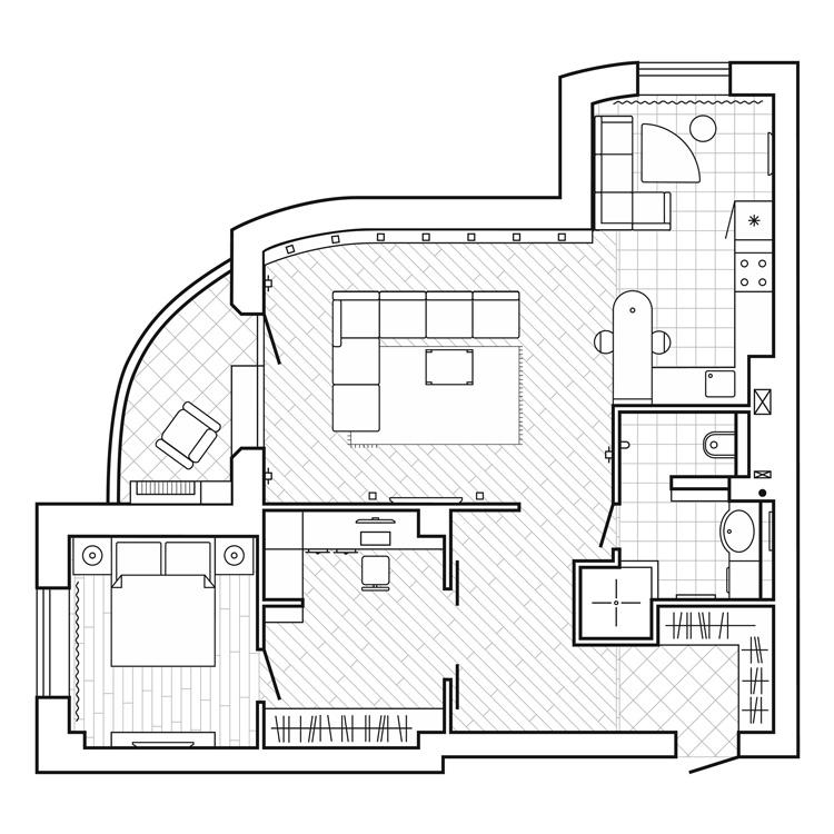 Progetto casa da 70 mq for Ristrutturare appartamento 75 mq