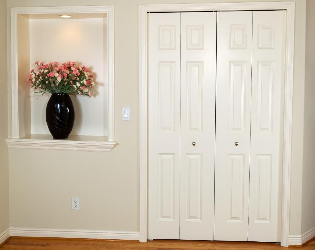 Porte a soffietto in legno standard con vetro e su misura for Porte a libro economiche