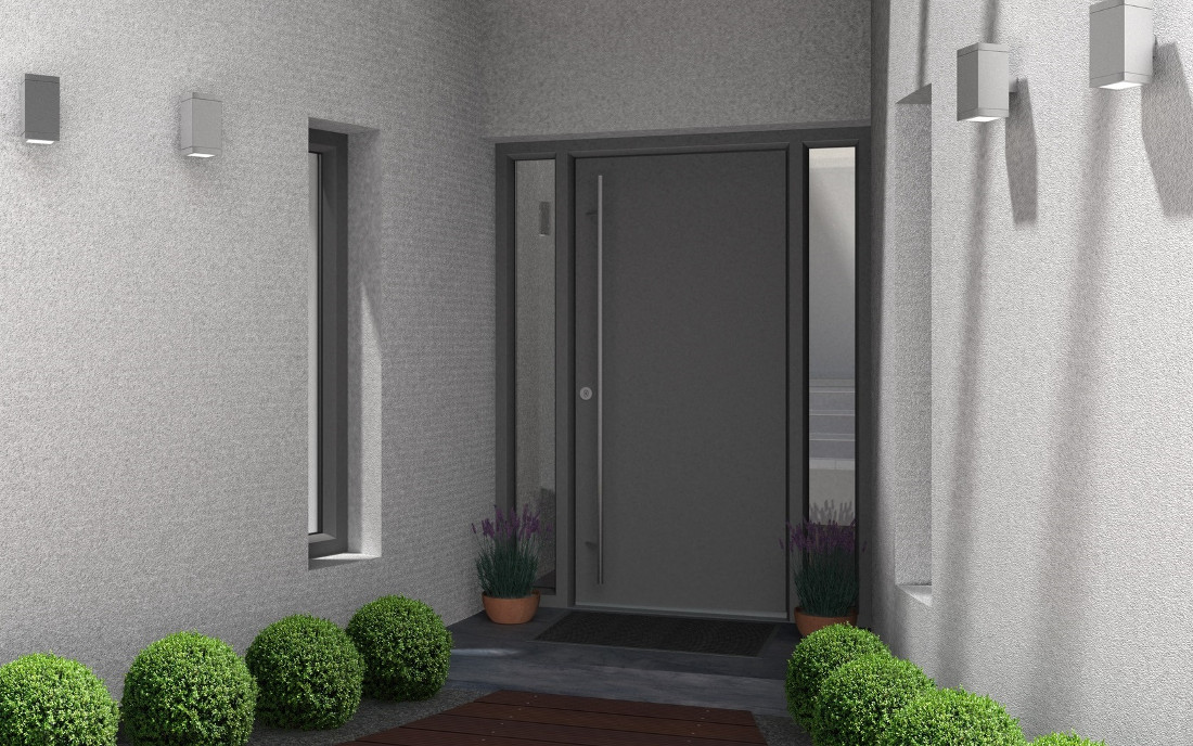 Portoncini in alluminio per esterno classici e moderni - Portoni da esterno prezzi ...