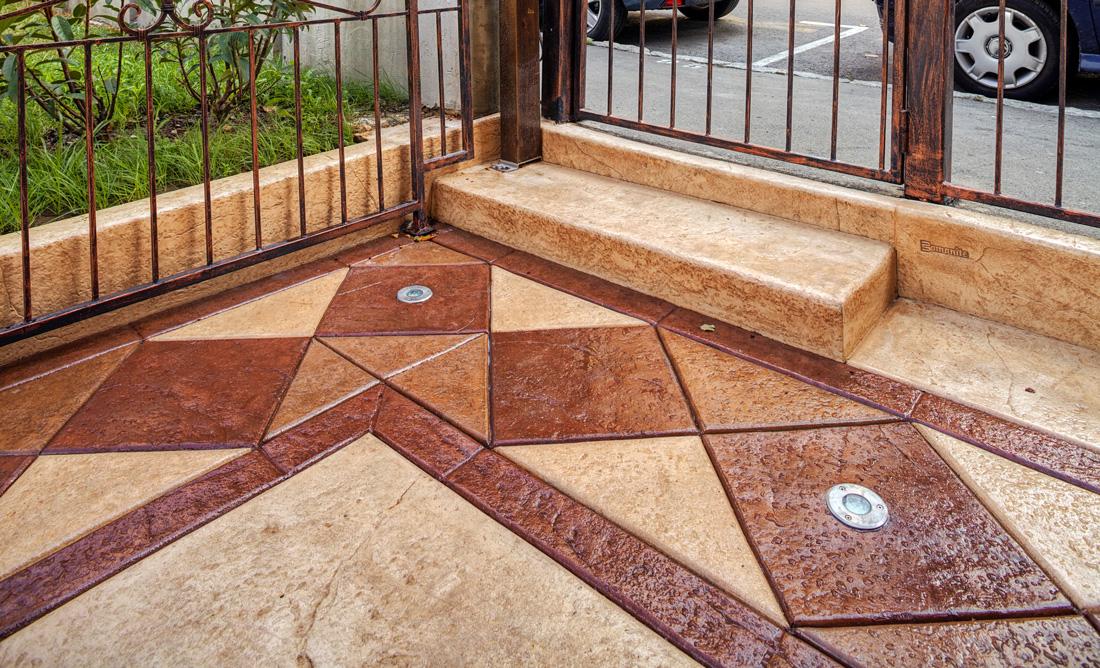 Pavimento in cemento stampato costi e consigli - Pavimenti galleggianti per esterni ...