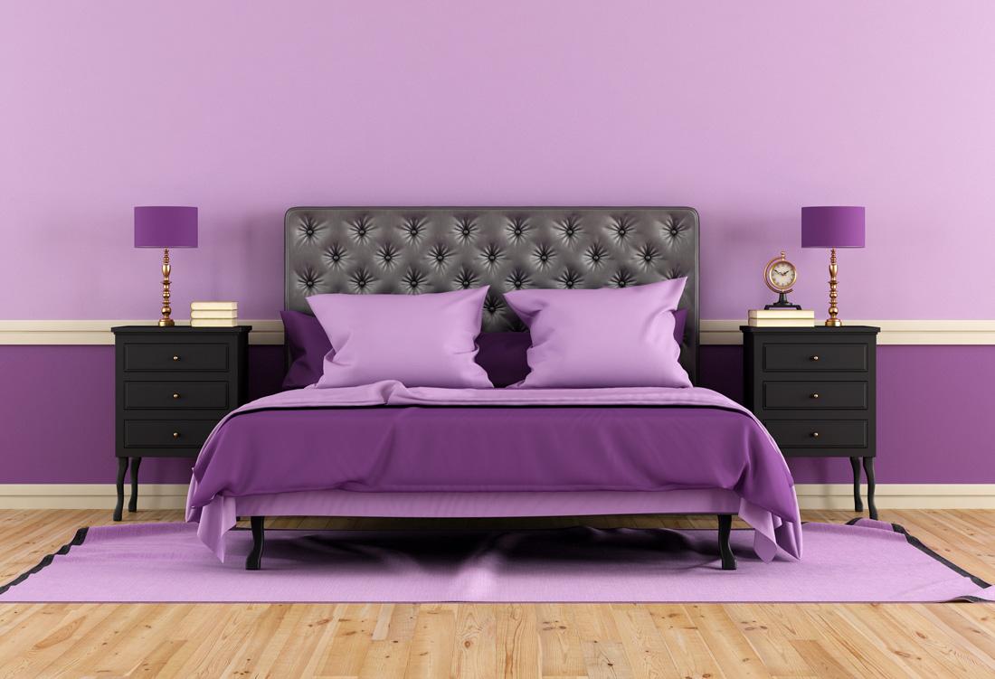 Colori pareti camera da letto dal classico al moderno al feng shui - Wandfarbe mauve ...