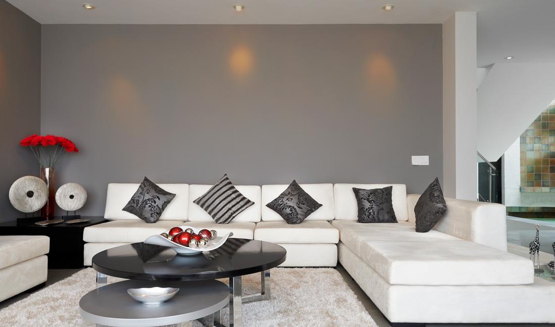 Camera Da Letto Con Pareti Asimmetriche Bianco E Grigio Interior Design : Pareti grigie dal grigio tortora al perla