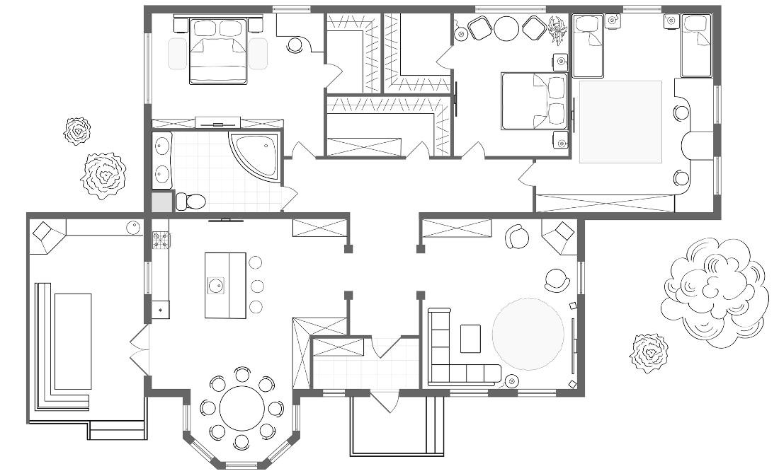 Esempio la pianta di una casa e luck for Disegnare progetto casa
